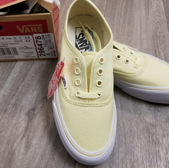 4f6915a7a9 Vans Tender Yellow Skate Shoes